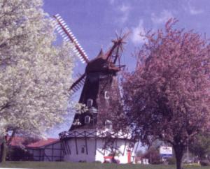Nørre Snede Mølle er genopstillet på det danske indvandrermuseum i Iowa, USA.